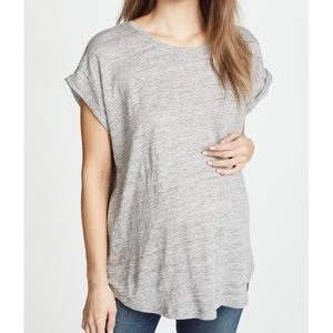 NWT HATCH Linen Circle Tee Shirt Gray 2 Medium